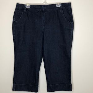 GLORIA VANDERBILT dark indigo cropped jeans 16